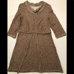 Saturday Sunday Anthropologie Brown Sweater Dress